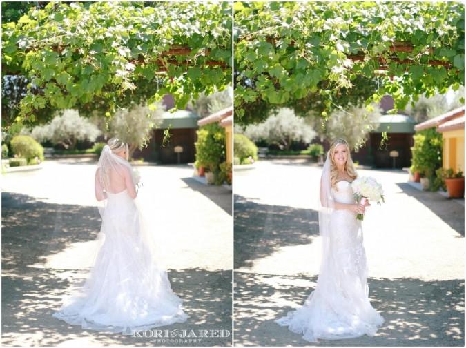 Romantic wedding flowers by Visual Impact Design | Kori & Jared Photography