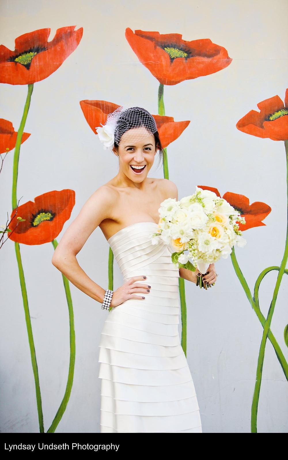 Buttercream, soft apricot and white bridal bouquet by Visual Impact Design, Sacramento Wedding Florist | Kate Whelan Events | Lyndsay Undseth Photography