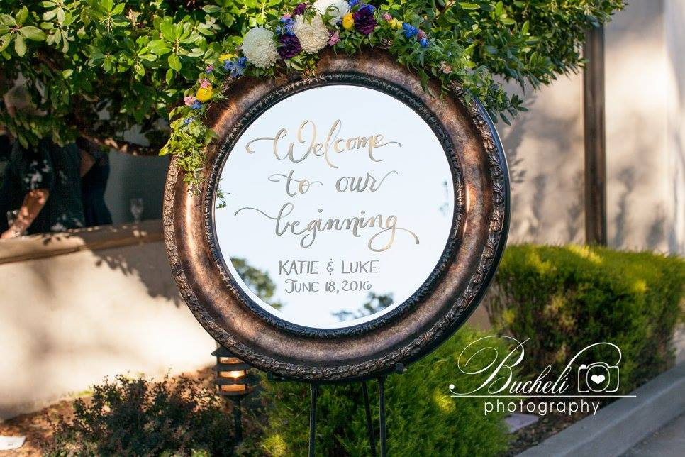 Catta Verdera Wedding Florist | Ceremony garland flowers by Visual Impact Design | Bucheli Photography