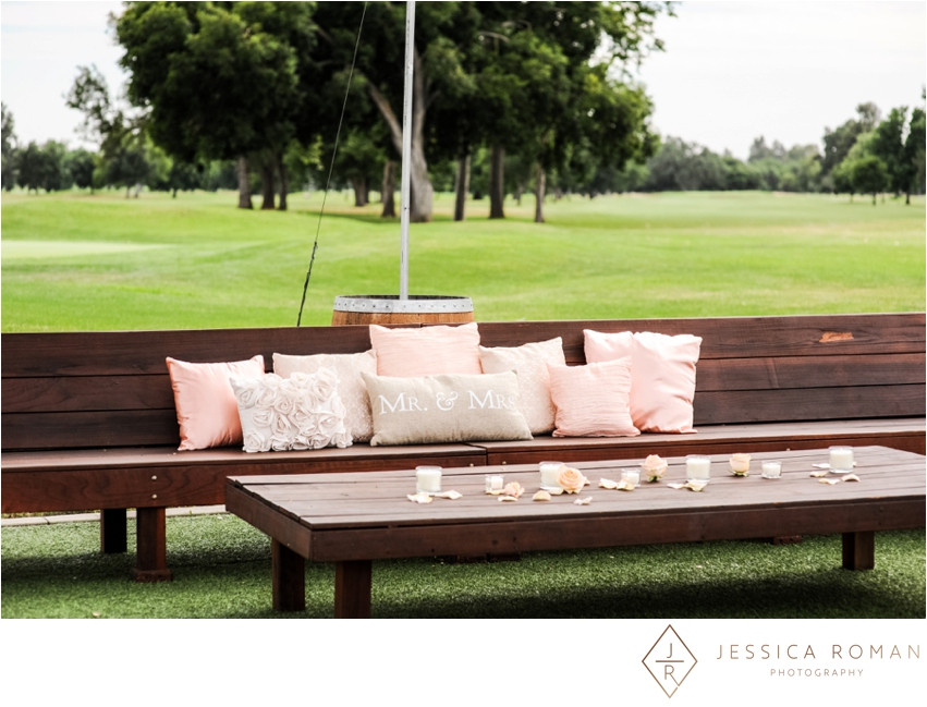 A lovely bench for guests | rose petals by Visual Impact Design | Jessica Roman Photography