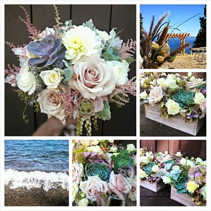 Lake Tahoe rustic elegant wedding | Flowers by Visual Impact Design