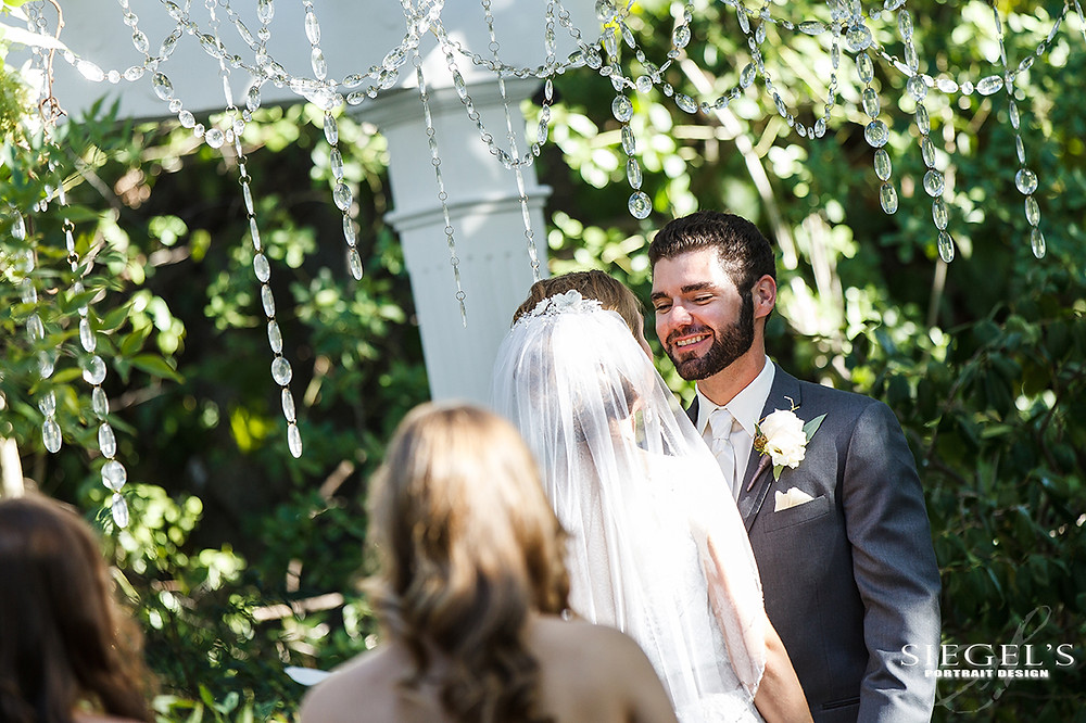 Garden Romance | Alyssa + Adam | Ceremony Flowers by Visual Impact Design | Photo by Siegel's Portrait Design | Venue: Newcastle Wedding Gardens, California