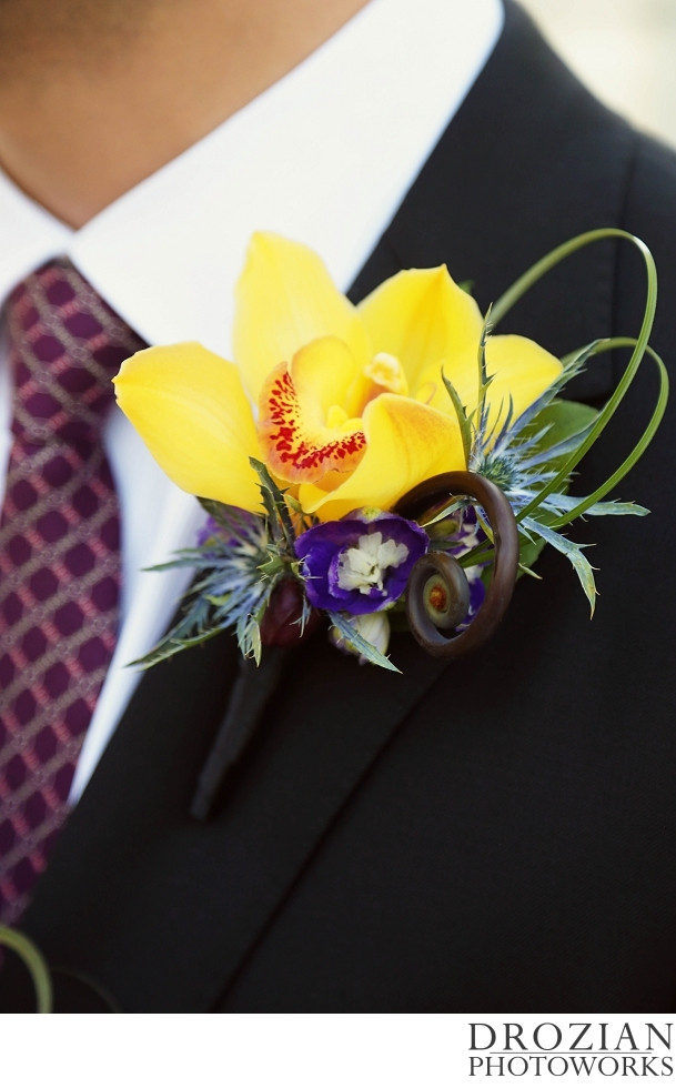 Boutonniere by Visual Impact Design | Crocker Art Museum Wedding | Drozian Photoworks
