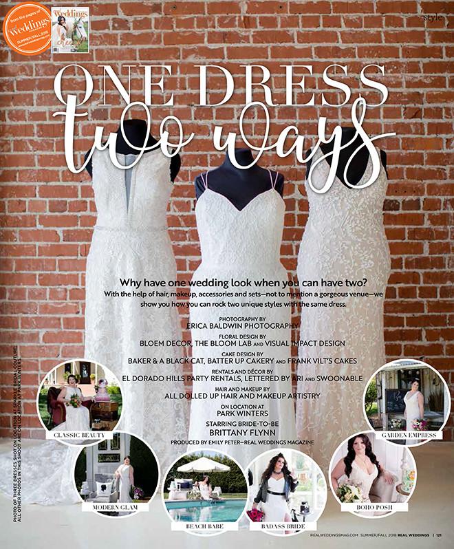 Real Weddings Magazine: One Dress Two Ways