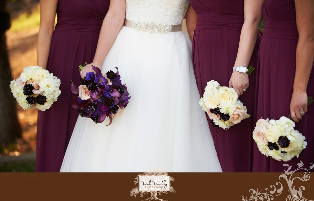 Bride and Bridesmaids bouquets by Visual Impact Design | Ford Family Photography