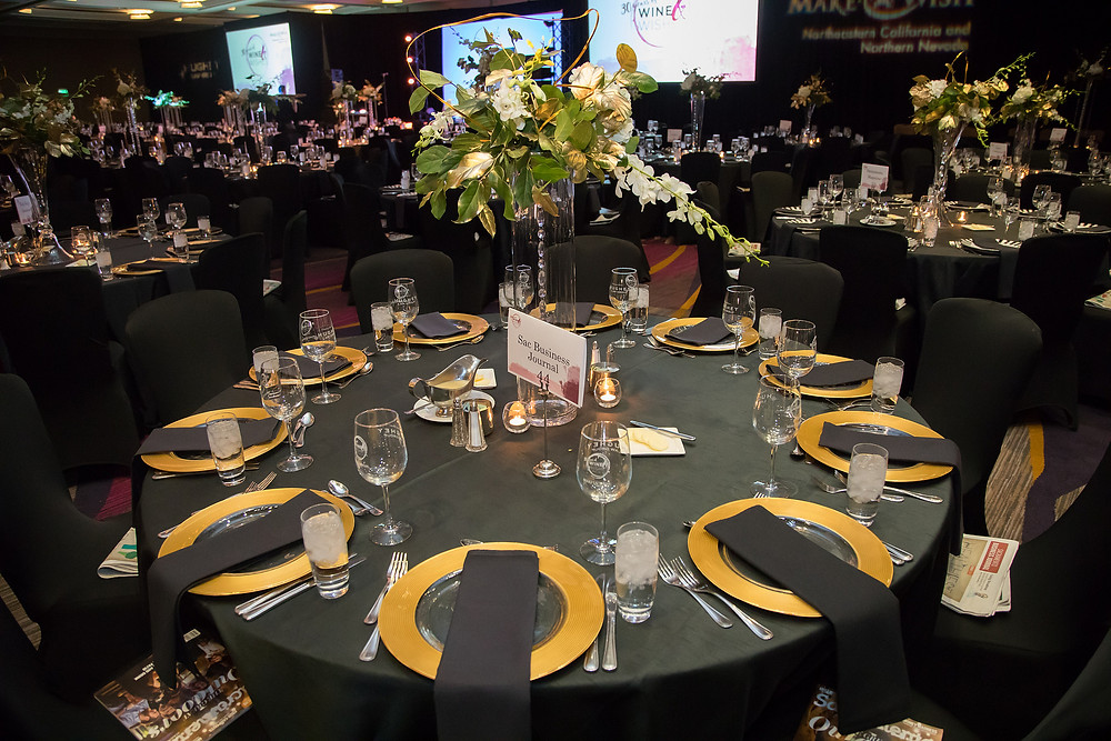 "Make-A-Wish ""Wine & Wishes"" event Sacramento, CA - centerpieces by Visual Impact Design"