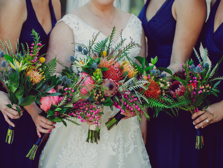 Saturated Jewel-Toned Wedding Flowers with a Tropical Twist: Sierra + Ross