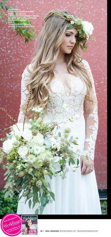 Real Weddings Magazine | Shoop's Photography | Visual Impact Design bouquet & floral crown