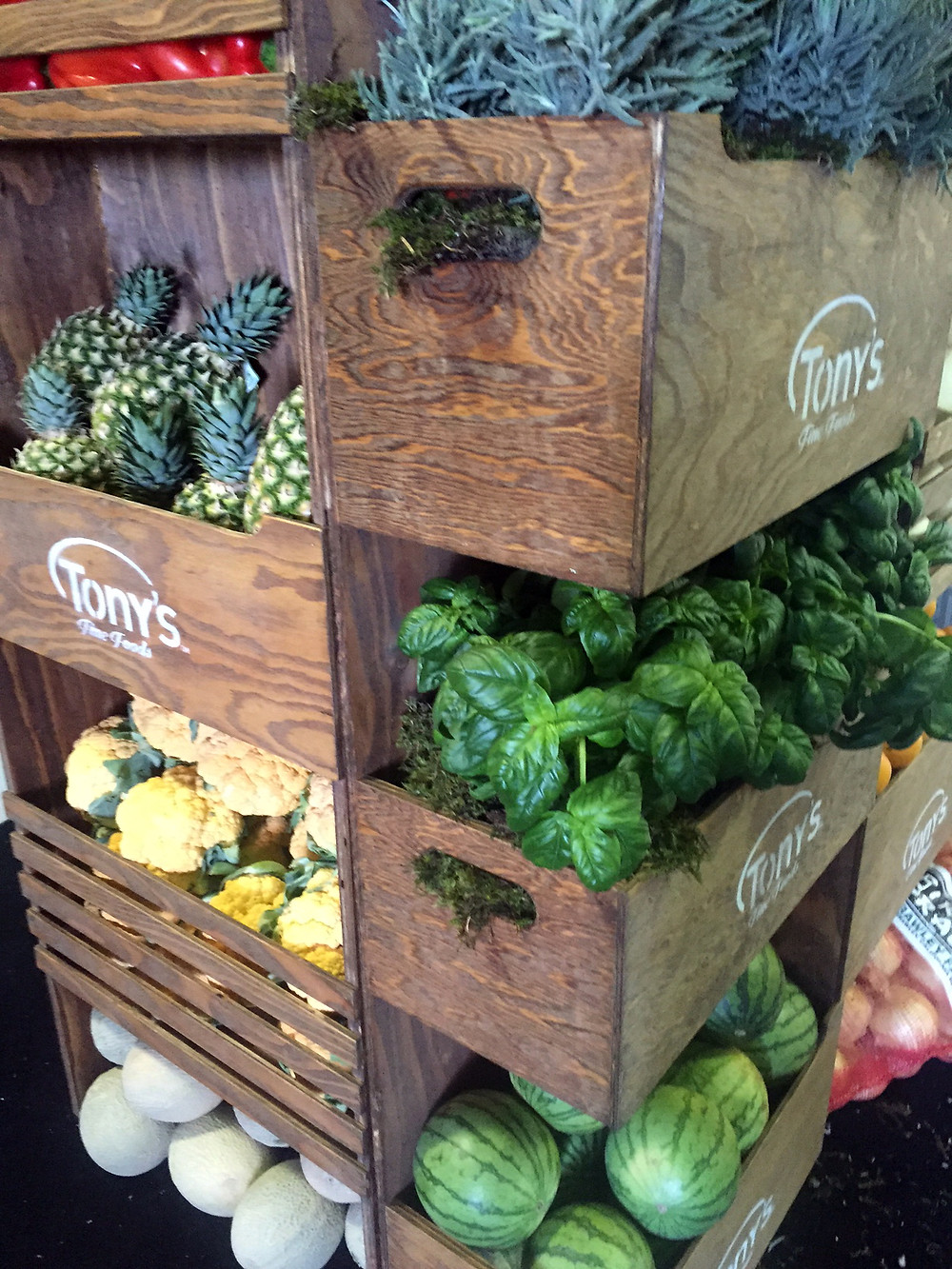 th!nk Fresh Food Show 2016 - detail of crates