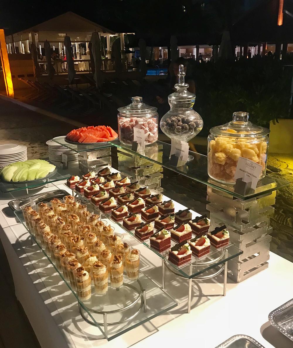 Wedding dessert station at Sandals Royal Barbados