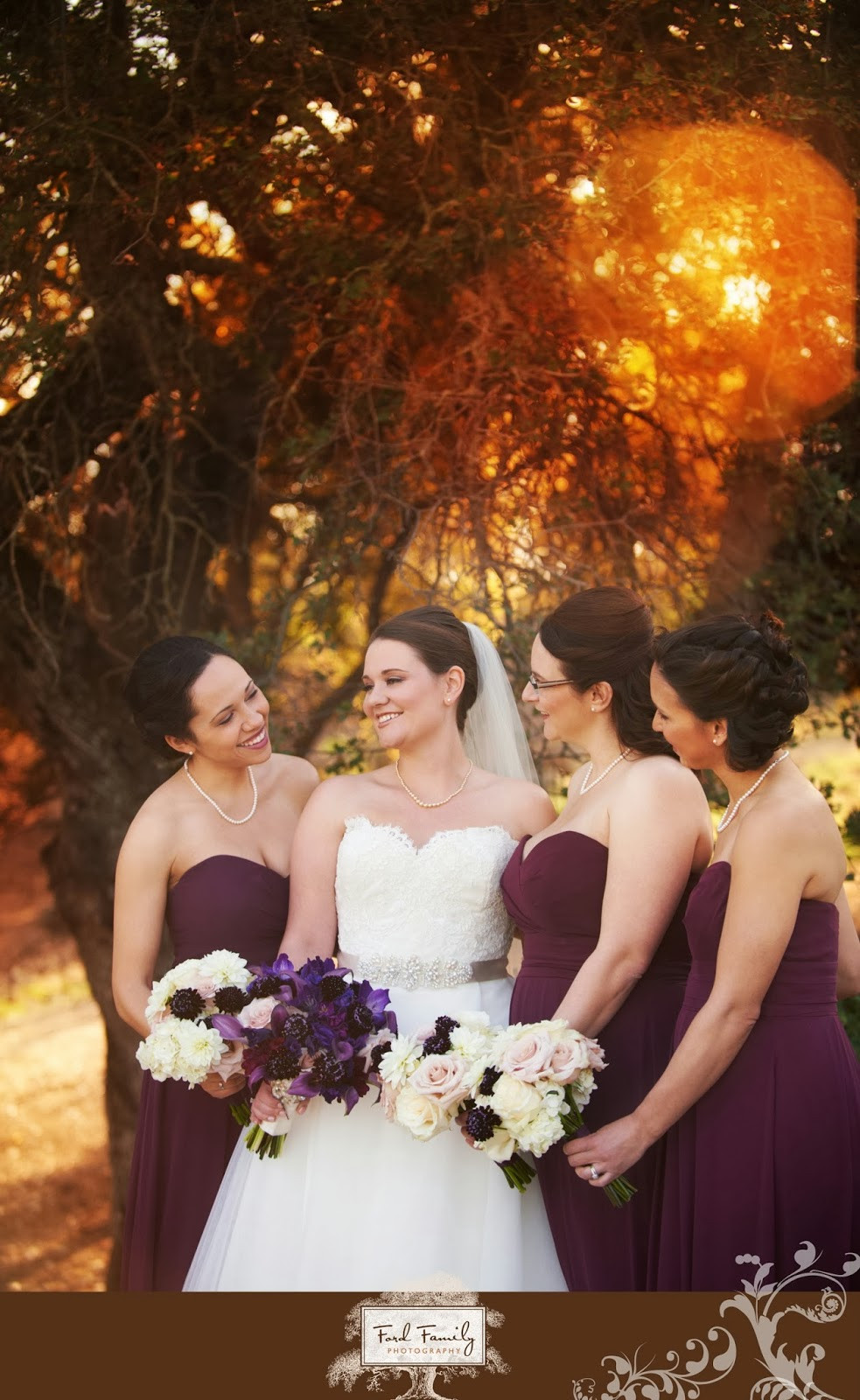 Bridal and Bridesmaids bouquets by Visual Impact Design | Ford Family Photography