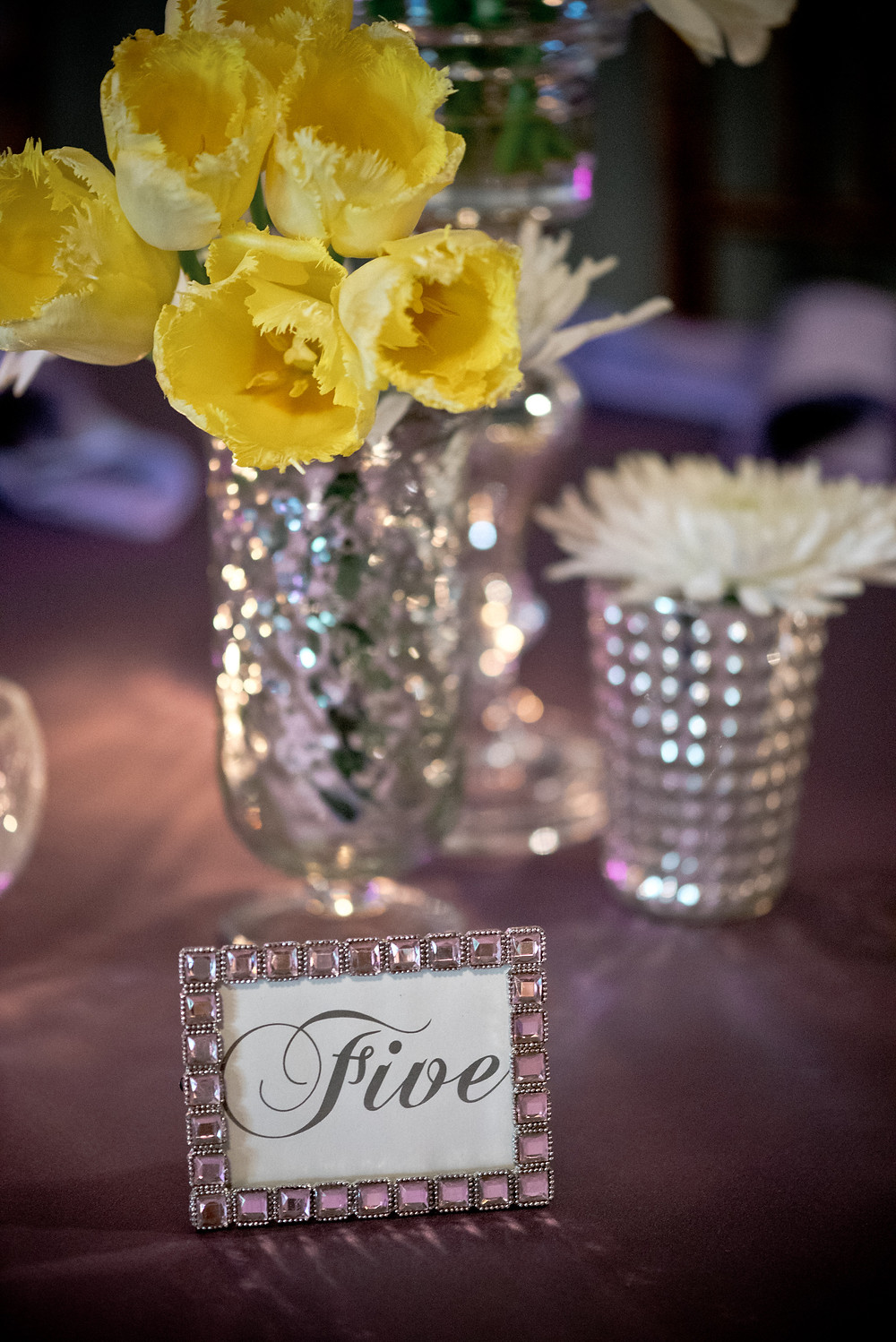 Yellow tulip centerpiece by Visual Impact Design | Photo by Allison Stahl Studio