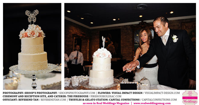 Wedding cake flowers by Visual Impact Design | Shoop's Photography | The Firehouse in Old Sacramento | Cake by Ettore's
