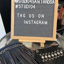 Tag us on Instagram @studio4santarosa