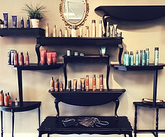 Studio 4 Salon's hair styling products