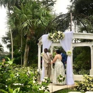 Ceremony under Pavilion at Sandals Royal Barbados