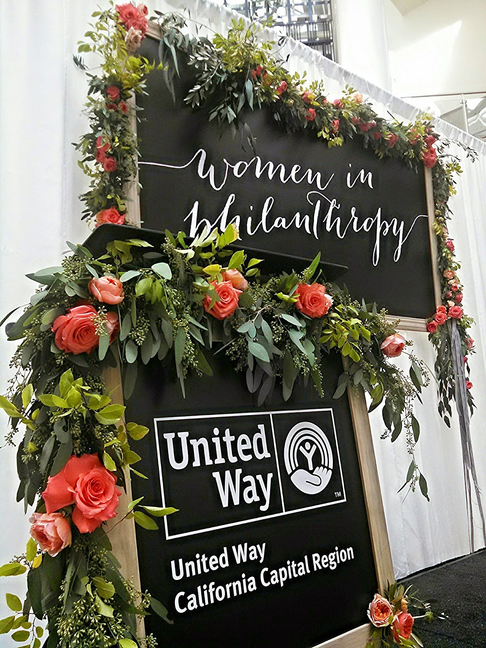 Visual Impact Design - centerpieces United Way's 13th Annual Women in Philanthropy Luncheon for