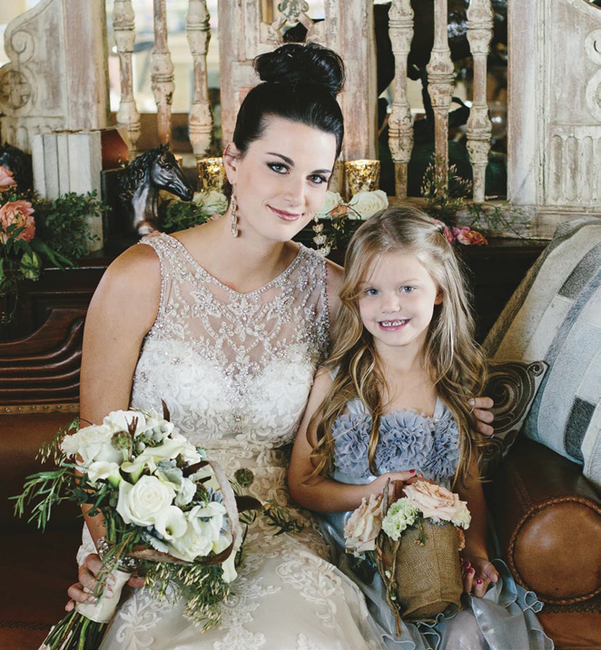 Elegant Western Country Wedding | Bridal bouquet & Flower Girl basket by Visual Impact Design | Emik Nikora Wedding Photographers