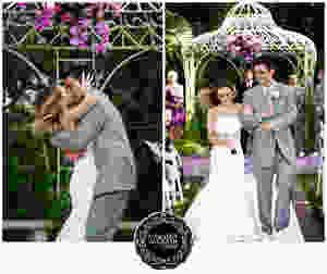 Ceremony wedding arbor flowers Visual Impact Design | Carmen Salazar Photography