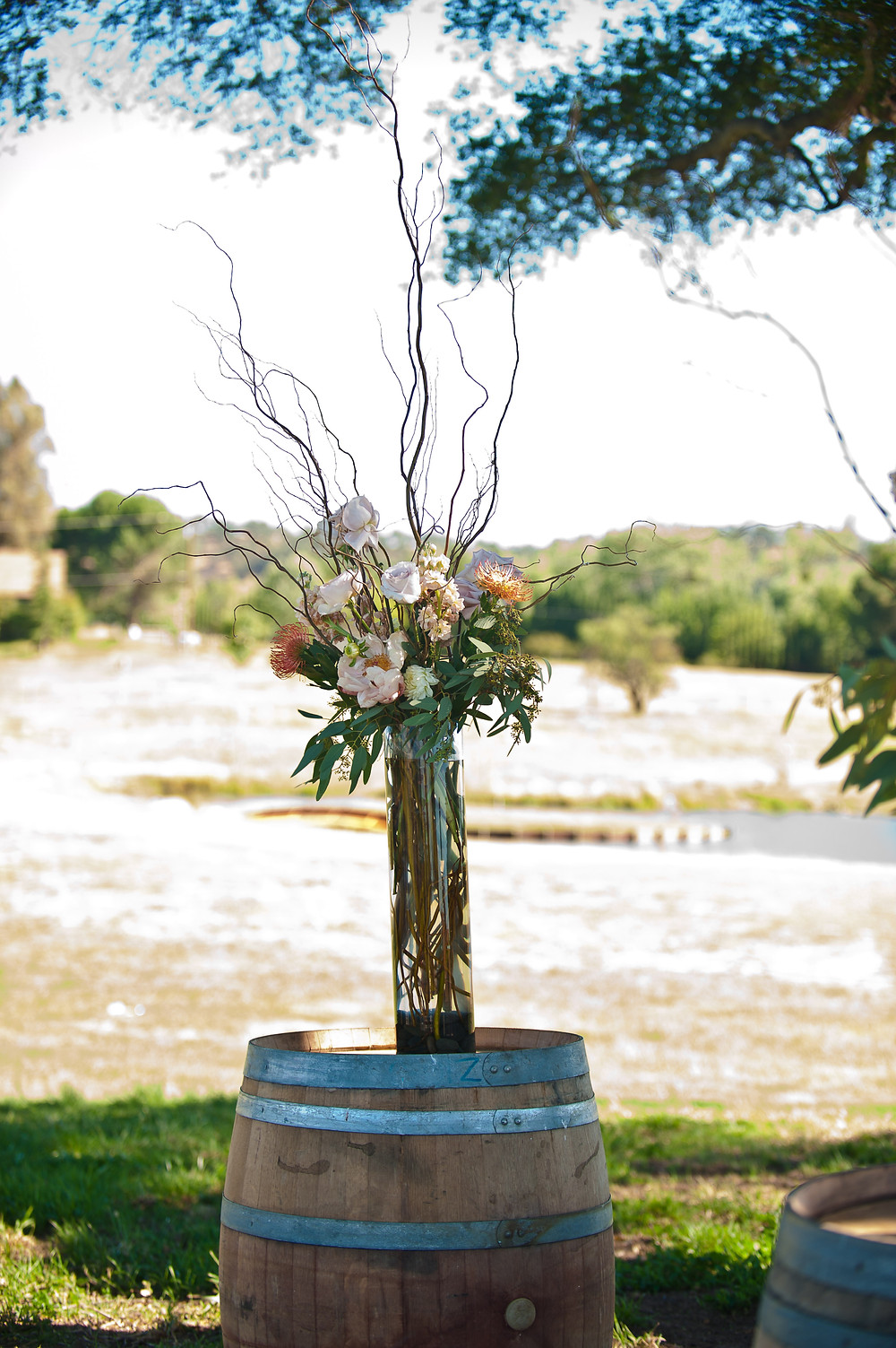 Country Chic Wedding - Rustic Ceremony Flowers by Visual Impact Design - Michelle Blair Photography