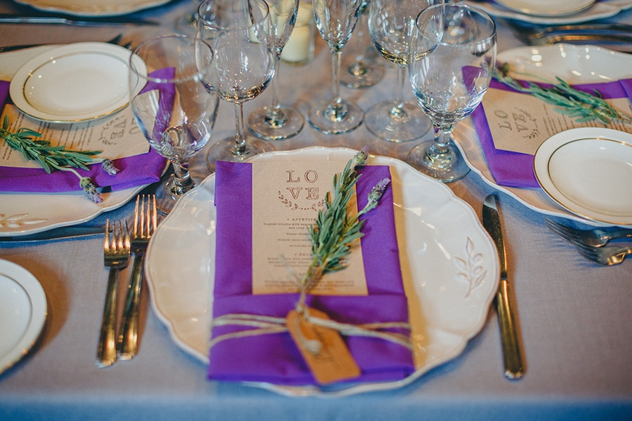 Lavender Love and Candlelight at The Firehouse: Natalie + Luke. Reception floral design by Visual Impact Design. Kris Holland Photography.