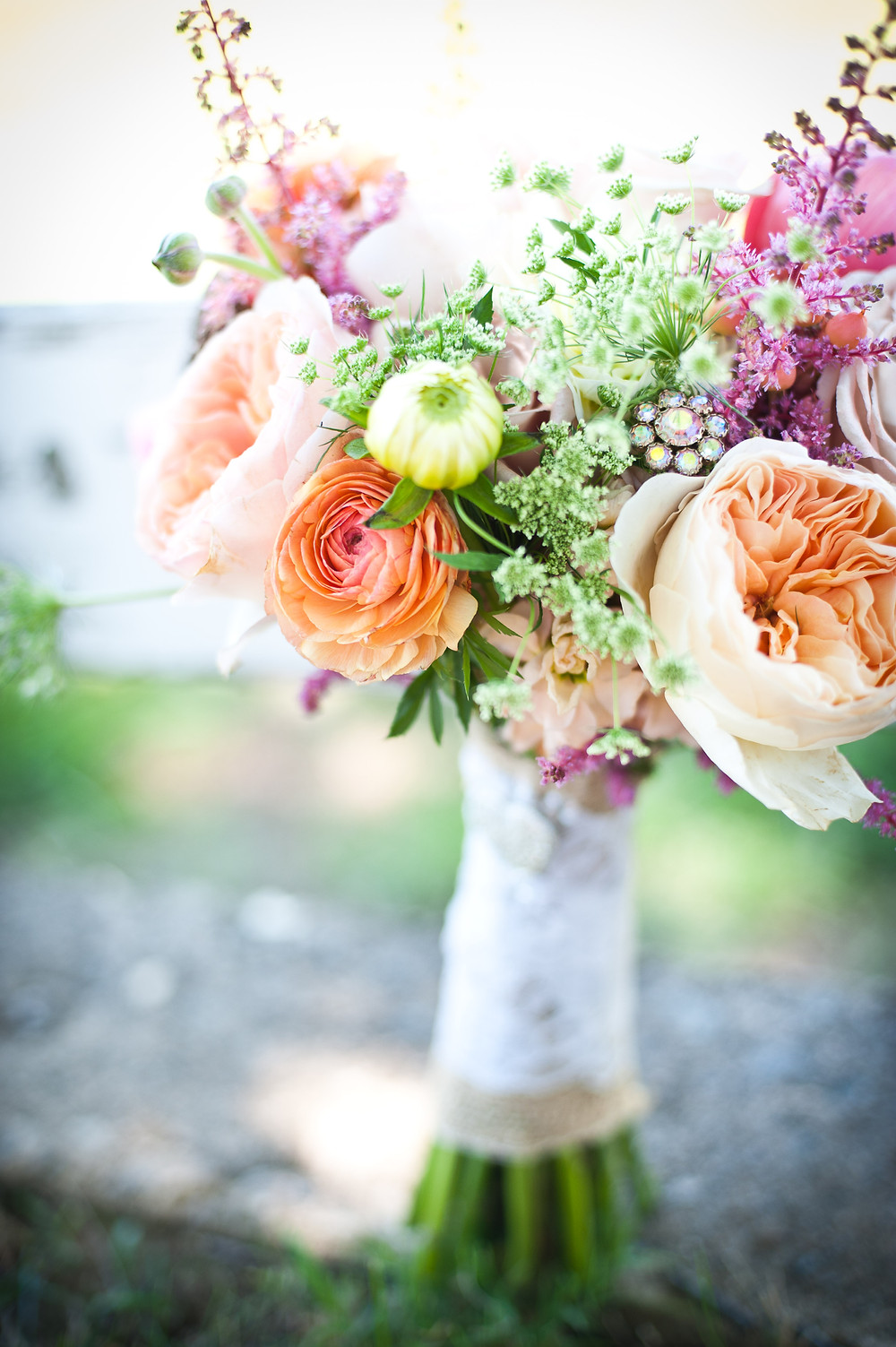Country Chic Wedding - Bouquet by Visual Impact Design - Michelle Blair Photography