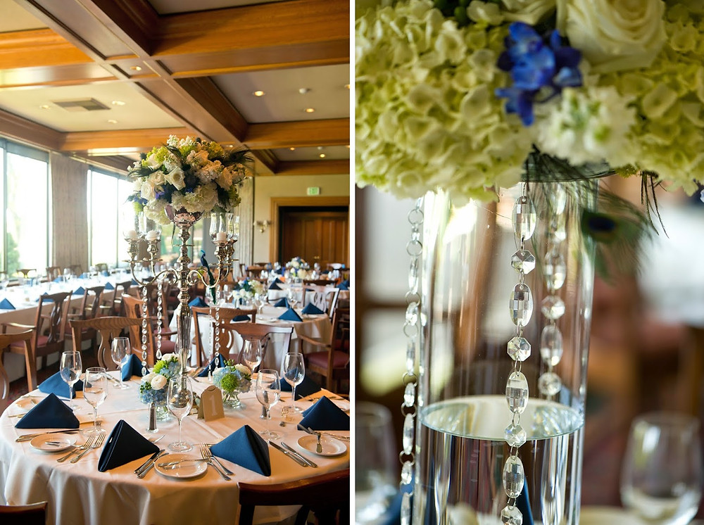 Reception wedding flowers by Visual Impact Design | Del Paso Country Club | Photo by True Love Photo