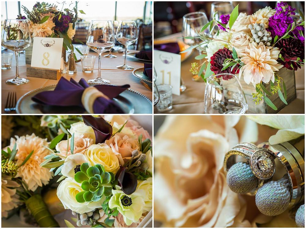 Wedding Reception Centerpieces by Visual Impact Design. CinZo Photography