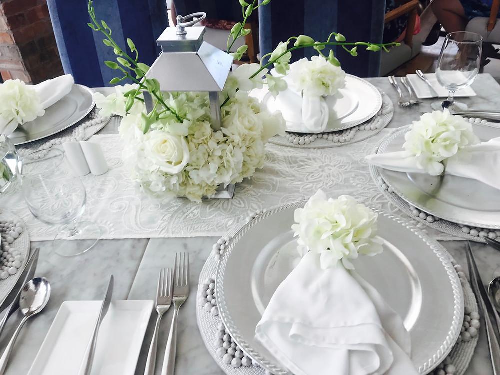 Wedding brunch table at Sandals Royal Barbados