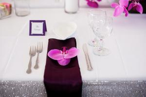 Orchid bud on napkin | Carmen Salazar Photography