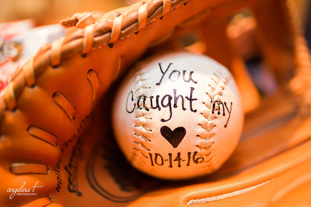 You caught my heart baseball | Angelina T Photography