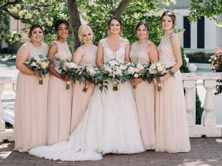 Vintage Elegance at the Vizcaya: Romantic Pink, Ivory and Soft Green Wedding Flowers