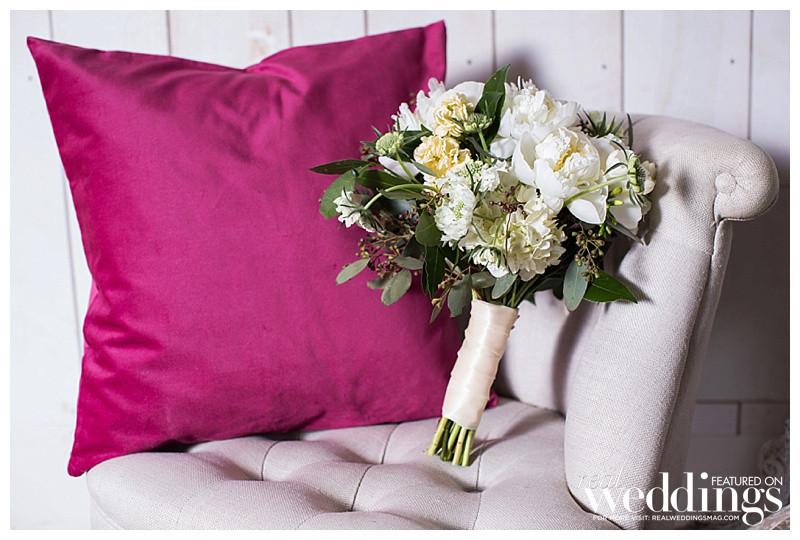 Boho Posh bride | Bouquet by Visual Impact Design for Real Weddings Magazine
