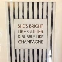 She's Bright Like Glitter...