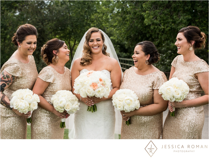 Romantic Bridal & Bridesmaids' Bouquets by Visual Impact Design | Jessica Roman Photography