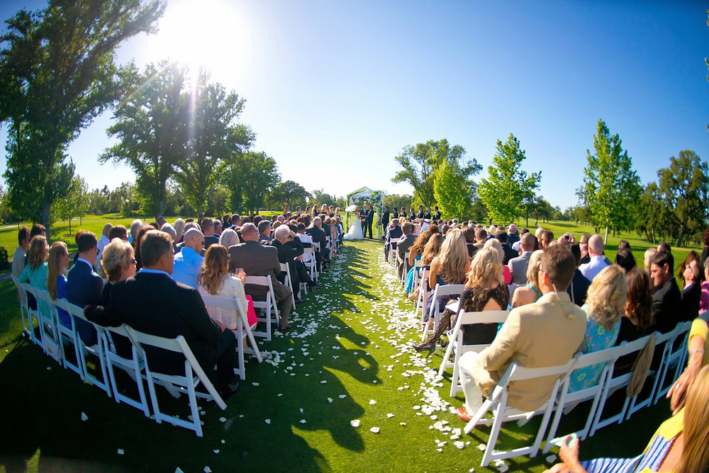 Aisle petals by Visual Impact Design | Del Paso Country Club | Photo by True Love Photo