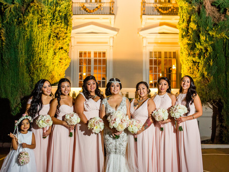 Romantic Flowers Set the Tone for an Exquisite & Elegant Blush Pink Wedding at the Grand Island