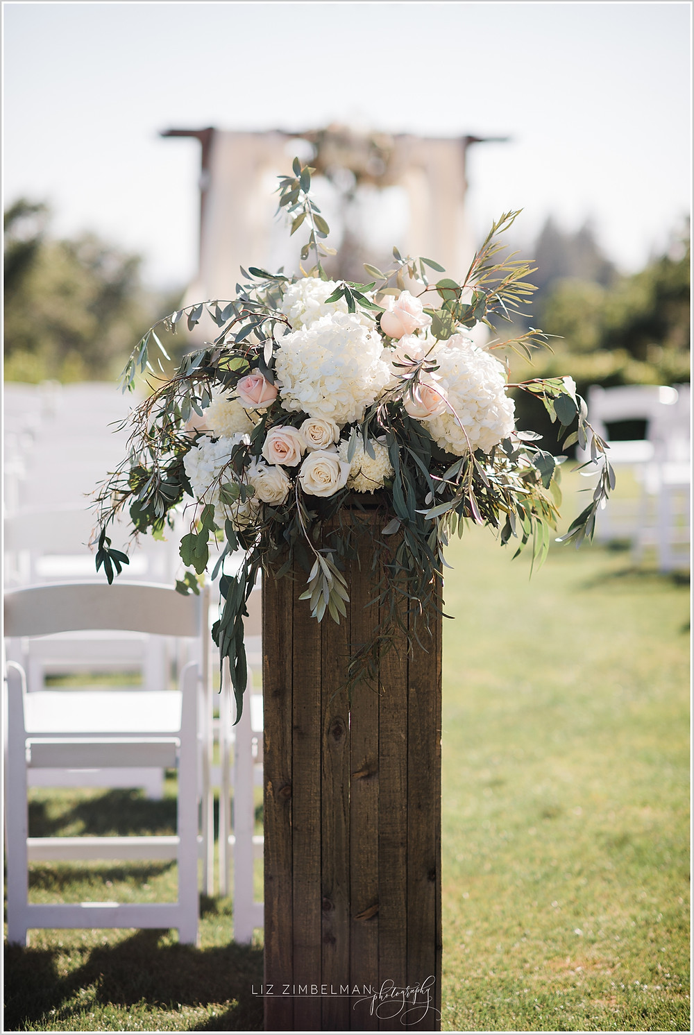 Ceremony floral arrangement