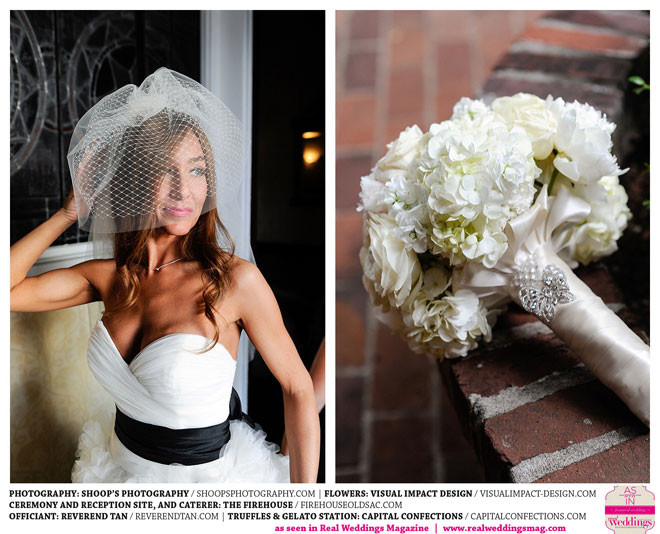 Soft romantic bridal bouquet by Visual Impact Design | Shoop's Photography | The Firehouse in Old Sacramento
