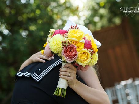 A Bride, a Sailor and a Summer Garden Wedding: Amanda + Mike