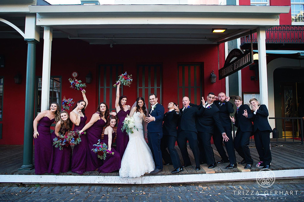 Bouquets by Visual Impact Design | Trizza Gerhart Photography | The Firehouse Restaurant in Old Sacramento