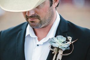 Succulent boutonniere by Visual Impact Design | Emik Nikora Wedding Photographers