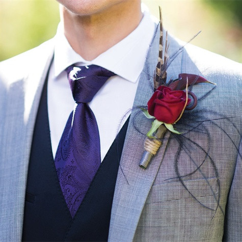 Boutonniere by Visual Impact Design | Charleston Churchill Photography