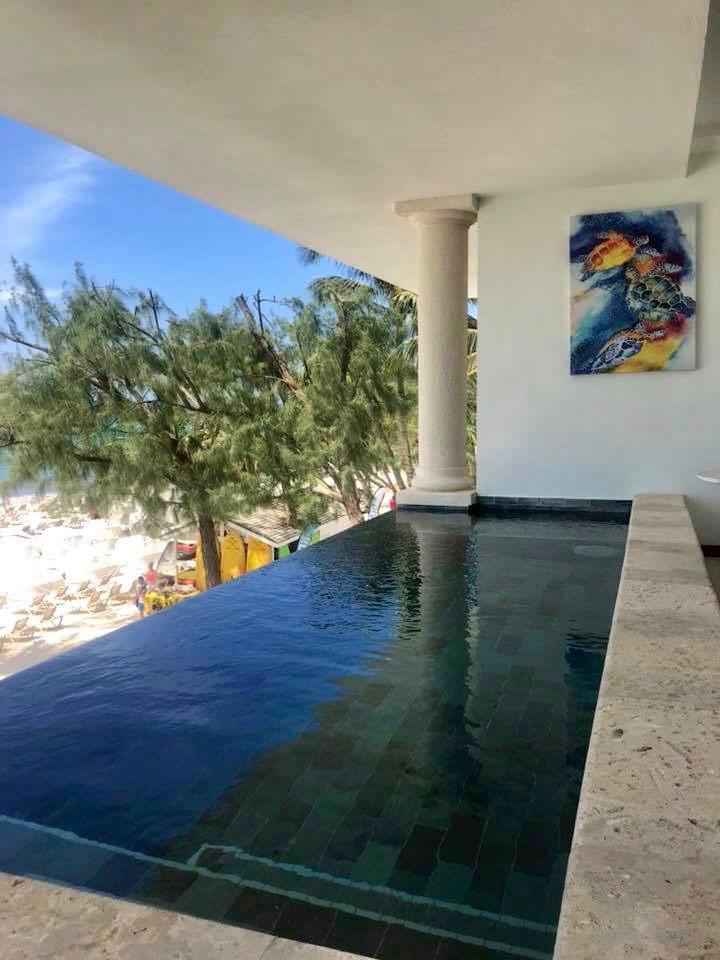Infinite pool at Sandals Royal Barbados