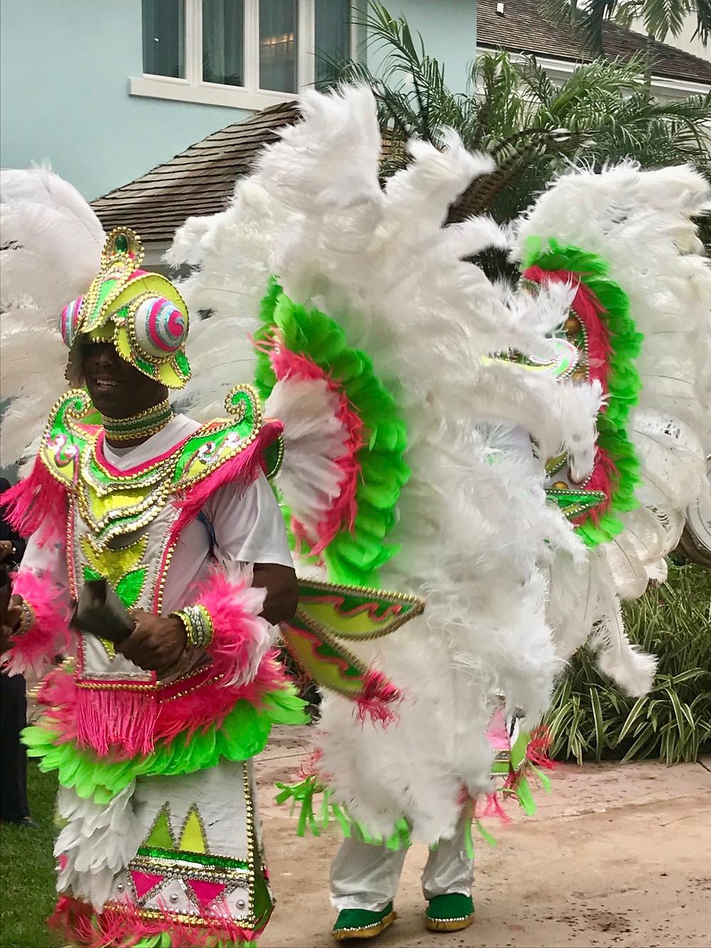Festive musicians in costume