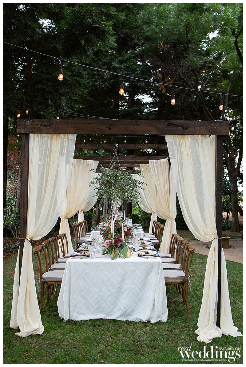 Romantic Italian-inspired dining table