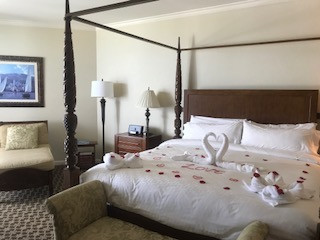 Romantic bed at Sandals Royal Barbados