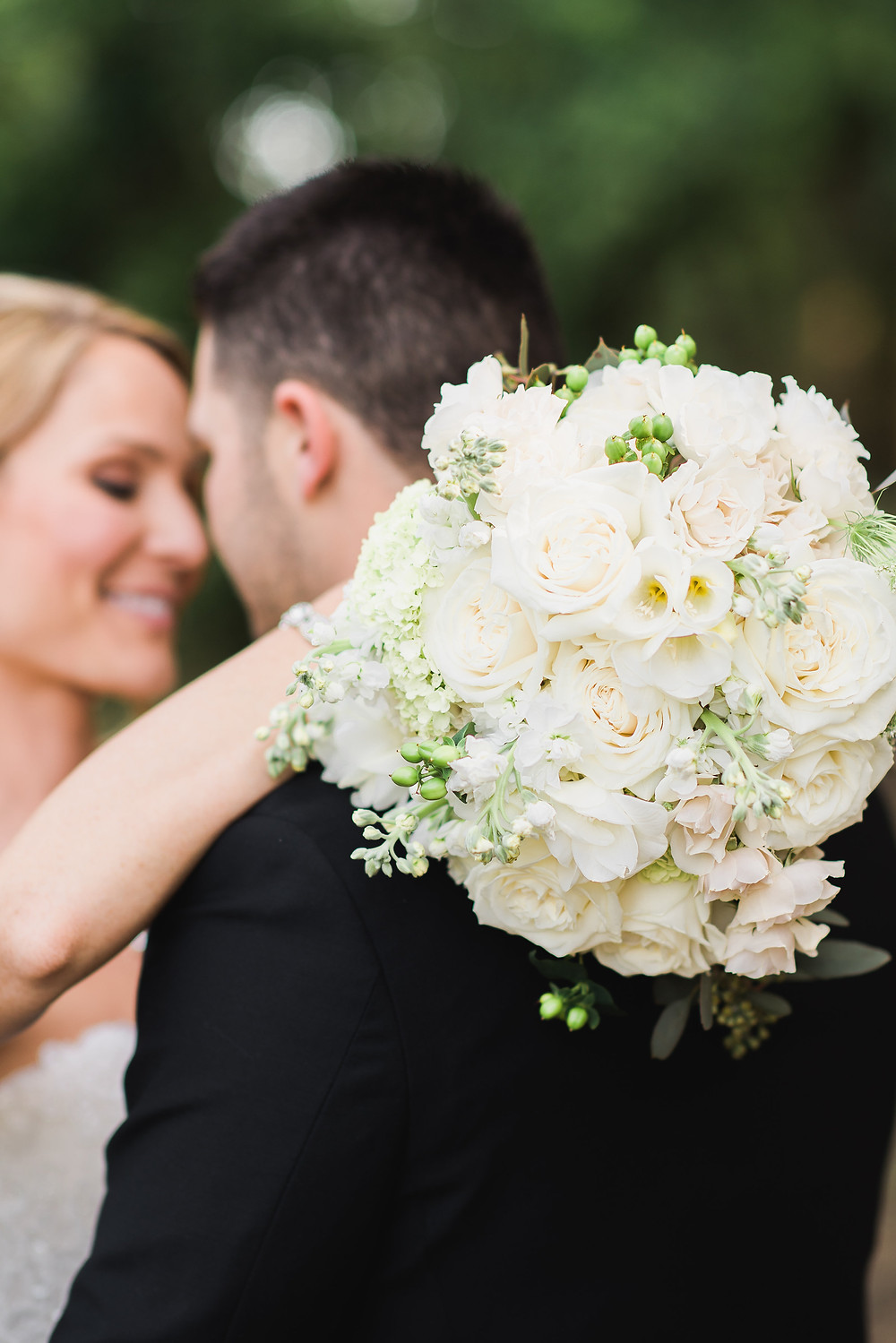 Bride and Groom | Visual Impact Design wedding flowers | Custock Photography