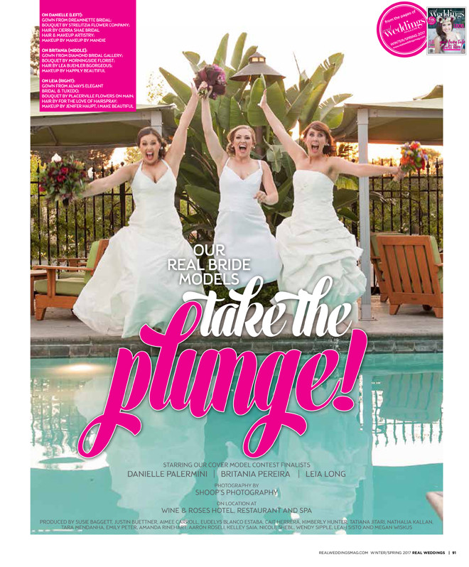 """Real Weddings Magazine """"Take the Plunge"""" Winter/Spring 2017 Issue 