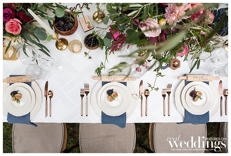 Row of place settings